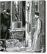 Electroplating The Dead, 1891 Acrylic Print