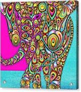 Elefantos - Bg01ac02 Acrylic Print by Variance Collections