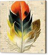 Elegant Feather-c Acrylic Print