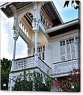 Elegant White House And Balcony Acrylic Print