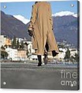 Elegant Woman Walking Acrylic Print