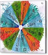 Elements With Zodiac Signs Acrylic Print