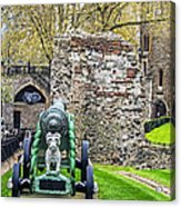 Elephant And Cannon Of The Tower Acrylic Print