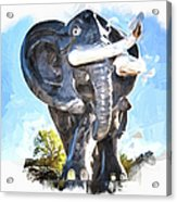 Elephant Statue Acrylic Print