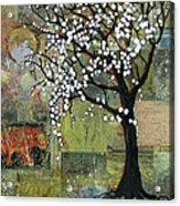 Elephant Under A Tree Acrylic Print