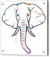 Elephant Watercolors - White Background Acrylic Print