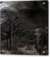 Elephants Of The Serengeti Acrylic Print