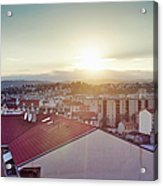 Elevated View Of City, Nice, France Acrylic Print