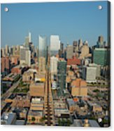 Elevated View Of Cityscape, Lake Street Acrylic Print