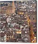 Elevated View Of Florence Acrylic Print