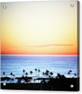 Elevated View Of The Sunset Acrylic Print