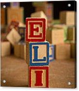 Eli - Alphabet Blocks Acrylic Print
