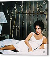 Elizabeth Taylor In Cat On A Hot Tin Roof  Acrylic Print