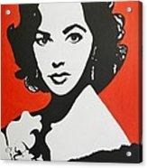 Elizabeth Taylor Acrylic Print by Juan Molina