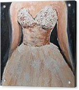 Lacey Dress Acrylic Print