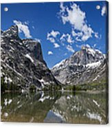 Elk Lake Panorama 1 Acrylic Print by Roger Snyder