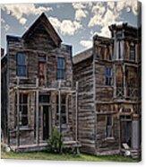 Elkhorn Ghost Town Public Halls - Montana Acrylic Print