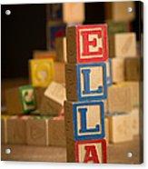 Ella - Alphabet Blocks Acrylic Print