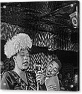 Ella Fitzgerald And Dizzy Gillespie William Gottleib Photo Unknown Location September 1947-2014. Acrylic Print