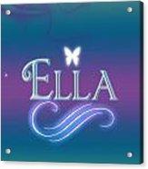 Ella Name Art Acrylic Print