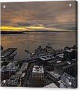 Elliott Bay Seattle Evening Acrylic Print