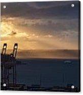 Elliott Bay Sunrays Acrylic Print