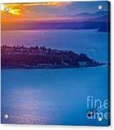 Elliott Bay Sunset Acrylic Print