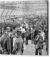 Ellis Island Immigration Hall, 1890s Acrylic Print