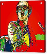Elton in Red Acrylic Print