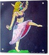 Elven Belly Dancer Acrylic Print