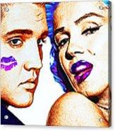 Elvis And Marilyn Monroe Acrylic Print