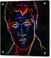 Elvis At Neon Acrylic Print
