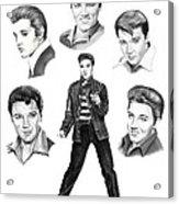 Elvis Elvis Elvis Acrylic Print