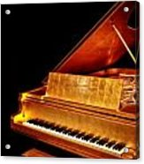Elvis' Gold Piano Acrylic Print