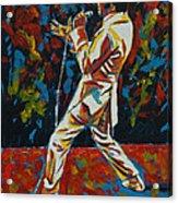 Elvis If I Can Dream Acrylic Print