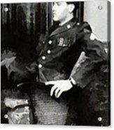 Elvis In Uniform Acrylic Print