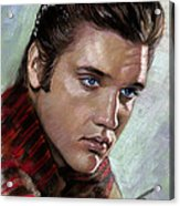 Elvis King Of Rock And Roll Acrylic Print