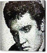 Elvis Love Me Tender Mosaic Acrylic Print