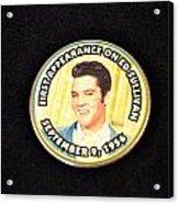 Elvis On Ed Sullivan Acrylic Print
