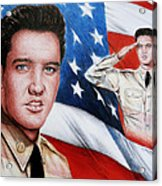 Elvis Patriot  Acrylic Print
