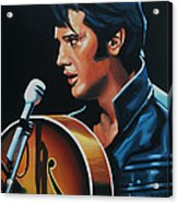 Elvis Presley 3 Painting Acrylic Print