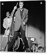 Elvis Presley And Bill Black Performing In 1956 Acrylic Print