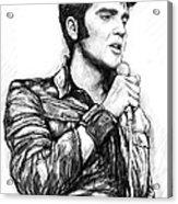 Elvis Presley Art Drawing Sketch Portrait Acrylic Print