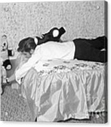 Elvis Presley At Home With His Teddy Bears 1956 Acrylic Print
