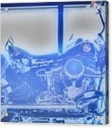 Elvis Presley Harley Davidson  Hdr Acrylic Print