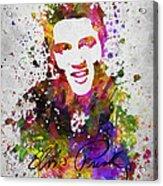 Elvis Presley In Color Acrylic Print