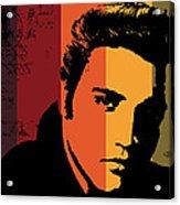 Elvis Presley Acrylic Print by Kenneth Feliciano