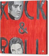 Elvis Presley King Of Rock And Roll Acrylic Print