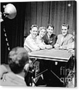 Elvis Presley Photographed With Fans 1956 Acrylic Print