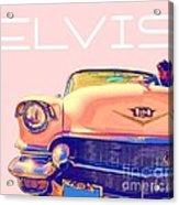 Elvis Presley Pink Cadillac Acrylic Print
